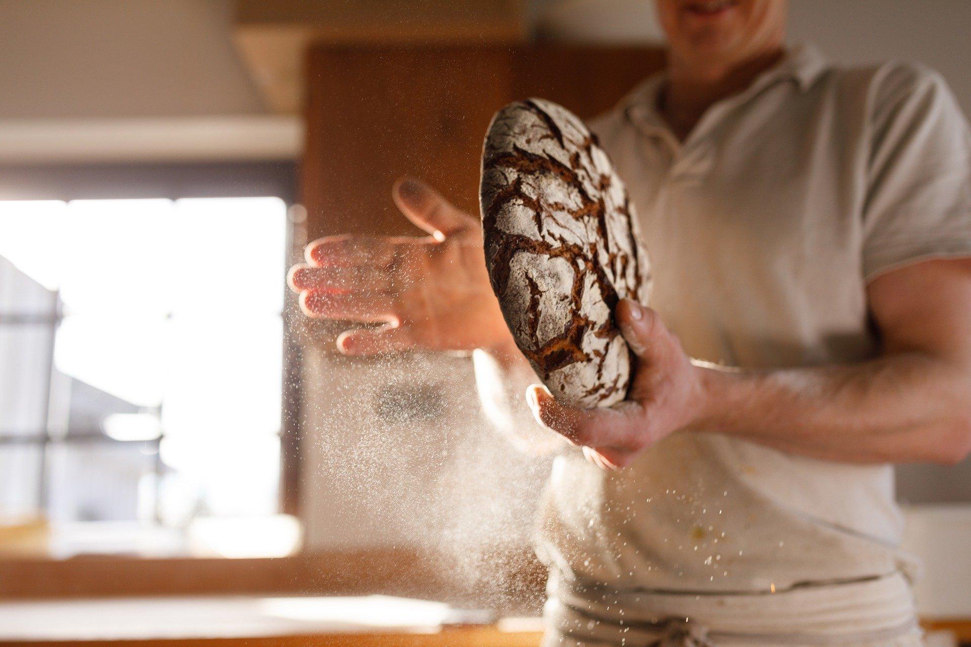 Frisches Brot vom Bäcker